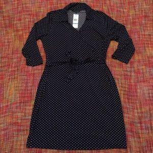 Jones New York Faux Wrap Dress 3/4 Sleeve NWT